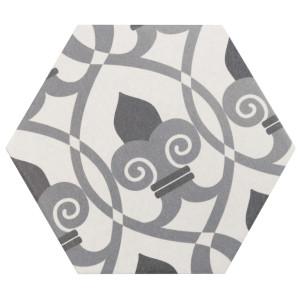 Hexagon Random Black and White